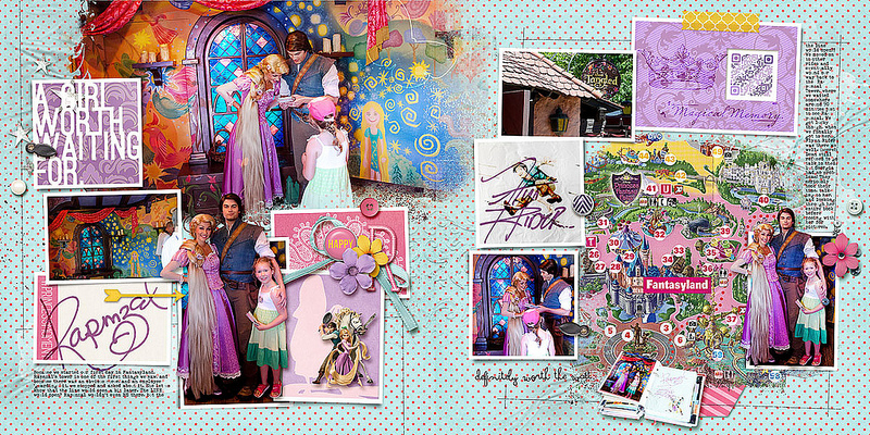 Disney Project Life page created by amberr featuring Project Mouse Princess by Sahlin Studio & Britt-ish Designs - 1FULL