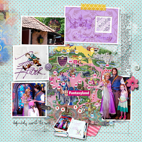 Disney Project Life page created by amberr featuring Project Mouse Princess by Sahlin Studio & Britt-ish Designs - 1b