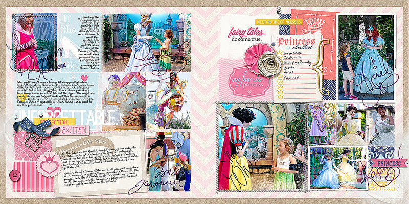 Disney Project Life page created by amberr featuring Project Mouse Princess by Sahlin Studio & Britt-ish Designs - 2FULL