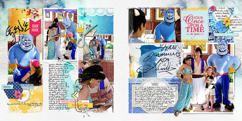 Disney Project Life page created by amberr featuring Project Mouse Princess by Sahlin Studio & Britt-ish Designs - 3FULL