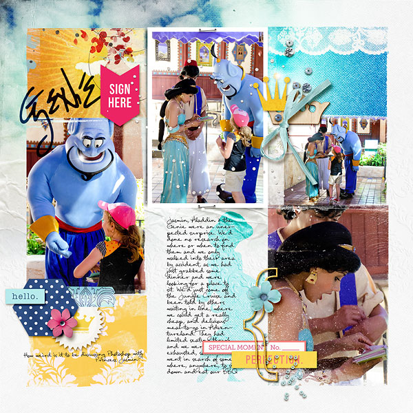 Disney Project Life page created by amberr featuring Project Mouse Princess by Sahlin Studio & Britt-ish Designs - 3a
