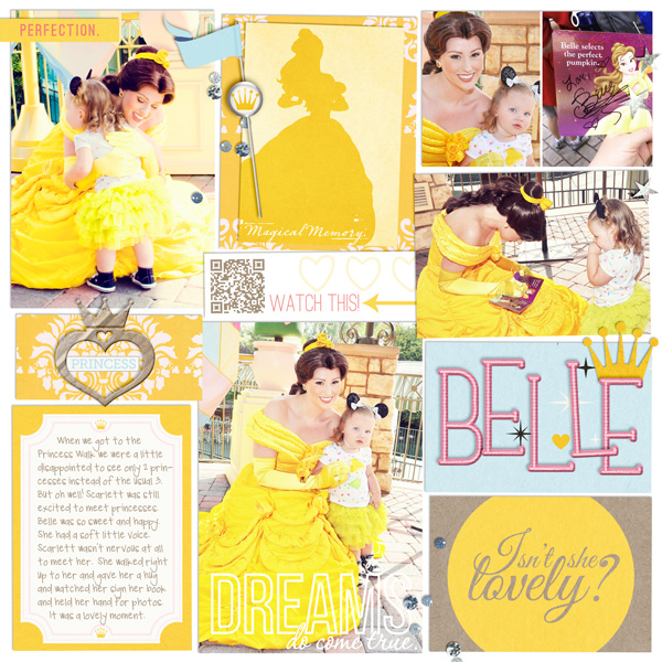 Disney Project Life page created by britt featuring Project Mouse Princess by Sahlin Studio & Britt-ish Designs