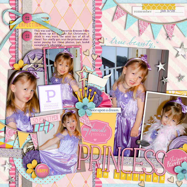 Disney Project Life page created by cindys732003 featuring Project Mouse Princess by Sahlin Studio & Britt-ish Designs