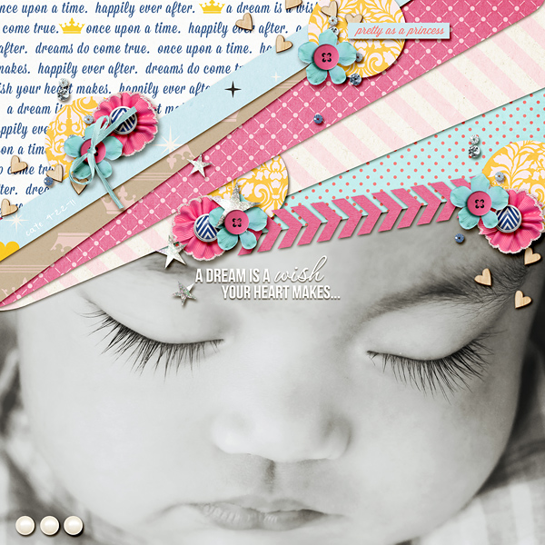 Disney Project Life page created by dianeskie featuring Project Mouse Princess by Sahlin Studio & Britt-ish Designs