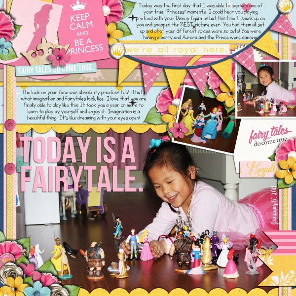 Disney Project Life page created by fonnetta featuring Project Mouse Princess by Sahlin Studio & Britt-ish Designs