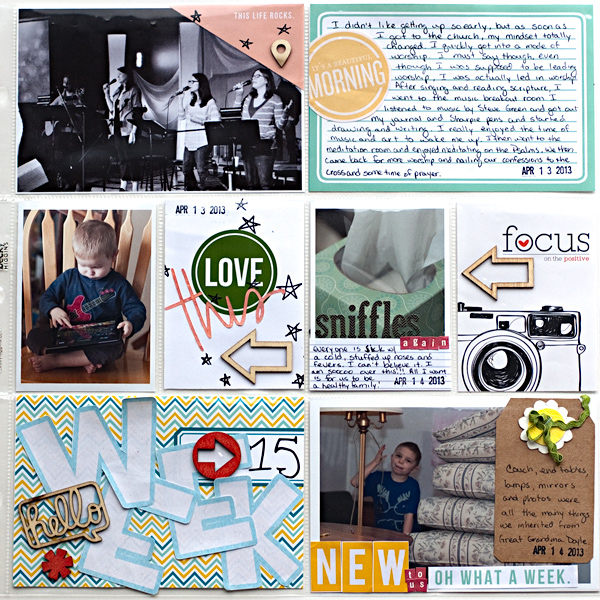 Disney Project Life page created by heathergw featuring Project Mouse Princess by Sahlin Studio & Britt-ish Designs-1b