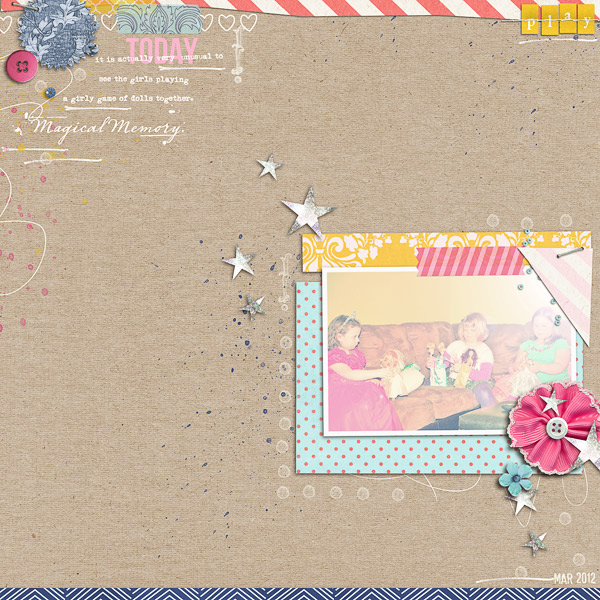 Disney Project Life page created by jenn barrette featuring Project Mouse Princess by Sahlin Studio & Britt-ish Designs