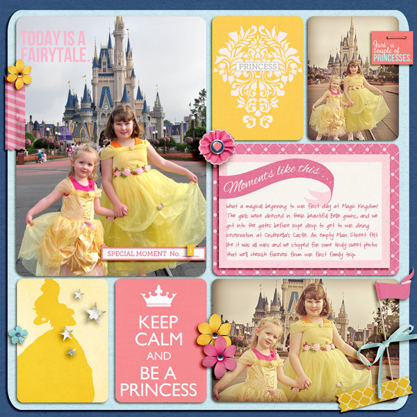 Disney Project Life page created by juliel featuring Project Mouse Princess by Sahlin Studio & Britt-ish Designs