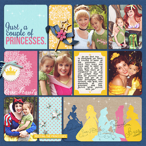 Disney Project Life page created by natasha featuring Project Mouse Princess by Sahlin Studio & Britt-ish Designs
