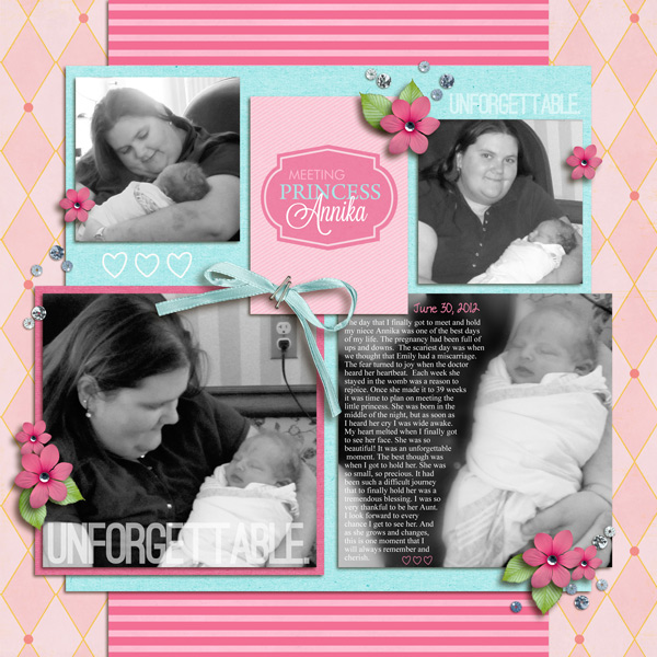 Disney Project Life page created by yzerbear19 featuring Project Mouse Princess by Sahlin Studio & Britt-ish Designs - 1