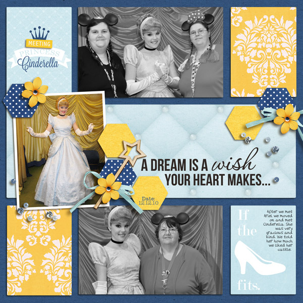 Disney Project Life page created by yzerbear19 featuring Project Mouse Princess by Sahlin Studio & Britt-ish Designs - 2
