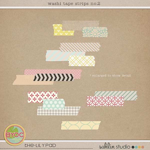 washi tapes strips no. 2 by sahlin studio