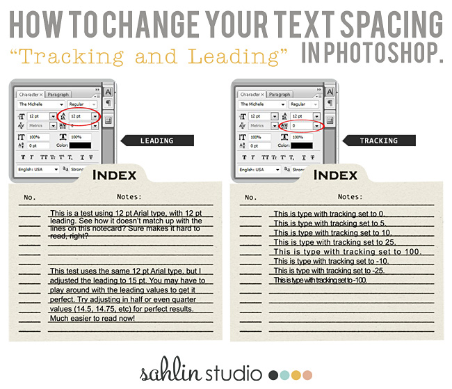 How to Change your Text Spacing - Tracking & Leading in Photoshop
