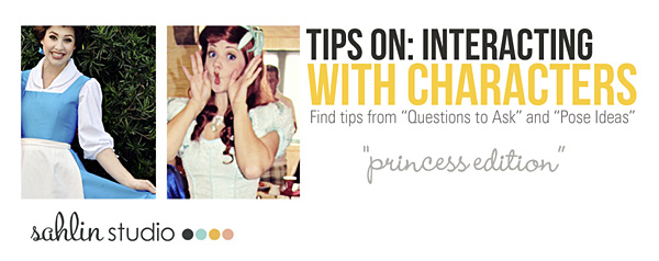 Character Interaction Tips (Questions / Pose Ideas):  Meeting the Princesses