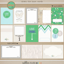 down the lane (journal cards) by sahlin studio
