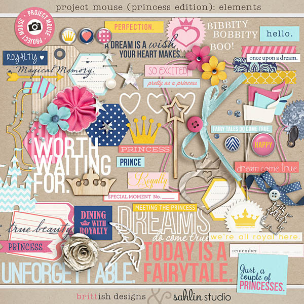 Project Mouse: (Princess Edition): Elements by Britt-ish Designs and Sahlin Studio