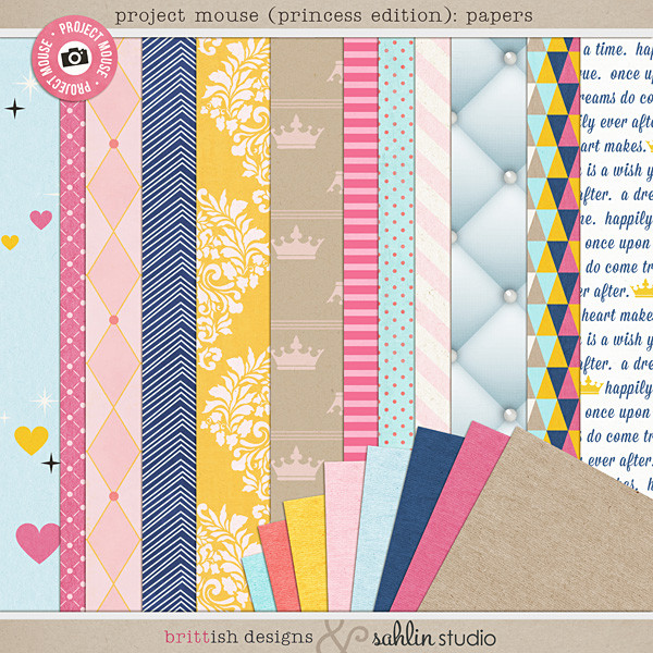 Project Mouse (Princess Edition): Papers by Britt-ish Designs and Sahlin Studio
