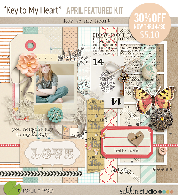Key to My Heart by Sahlin Studio - APRIL FEATURED KIT 30%OFF