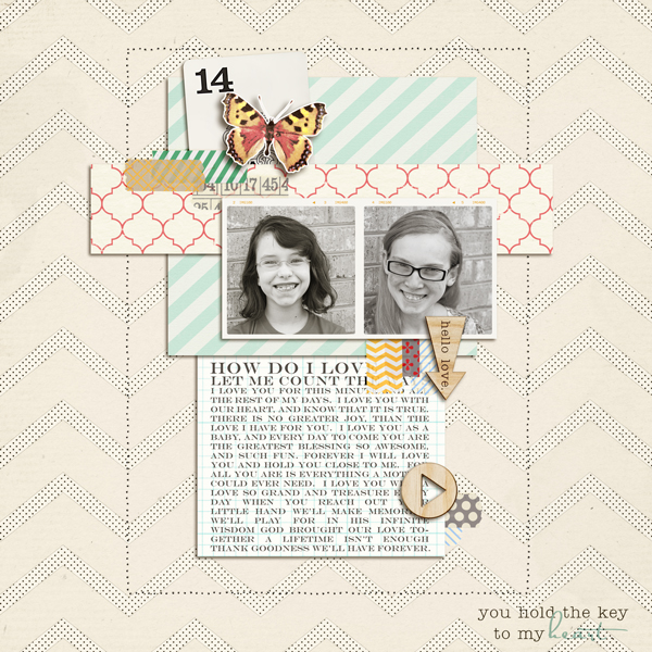 "Digital Scrapbook Page created by my2monkeys featuring ""Wood Veneer - Arrows"" by Sahlin Studio"