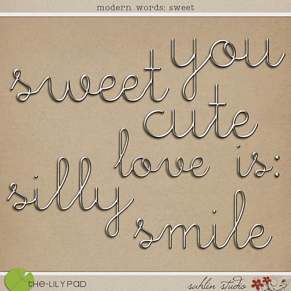 Modern Words: Sweet by Sahlin Studio
