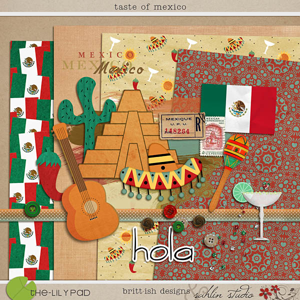 Digital Scrapbook Kit Taste of Mexico by Sahlin Studio and Britt-ish Designs
