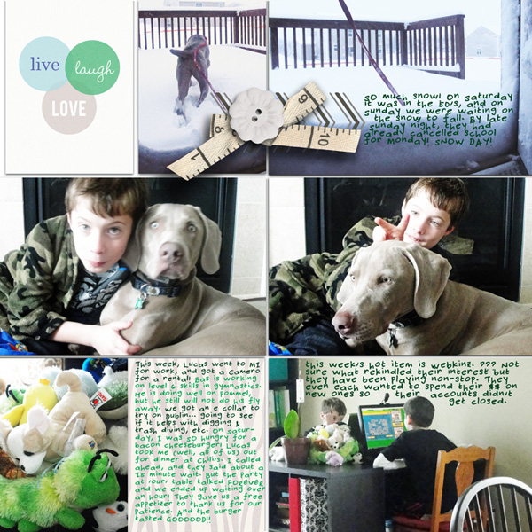 "Digital Project Life page created by RebeccaH featuring ""Down the Lane"" by Sahlin Studio-1"