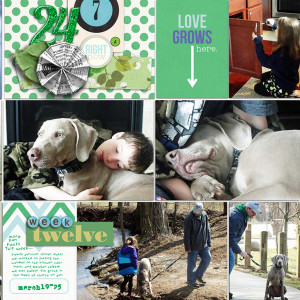 """Digital Project Life page created by RebeccaH featuring """"Down the Lane"""" by Sahlin Studio-2"""
