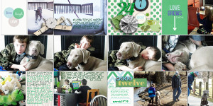 "Digital Project Life page created by RebeccaH featuring ""Down the Lane"" by Sahlin Studio-FULL"