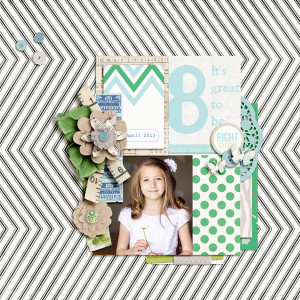 "Digital Scrapbook page created by aballen featuring ""Down the Lane"" by Sahlin Studio"