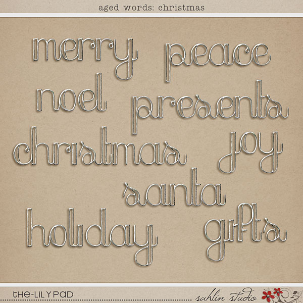 Aged Words: Christmas by Sahlin Studio