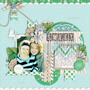 "Digital Scrapbook page created by cindys732003 featuring ""Down the Lane"" by Sahlin Studio"