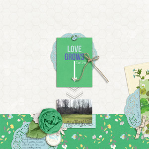 "Digital Scrapbook page created by cristina featuring ""Down the Lane"" by Sahlin Studio-1"