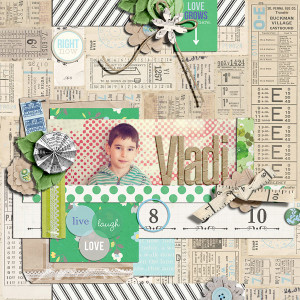 """Digital Scrapbook page created by damayanti featuring """"Down the Lane"""" by Sahlin Studio"""