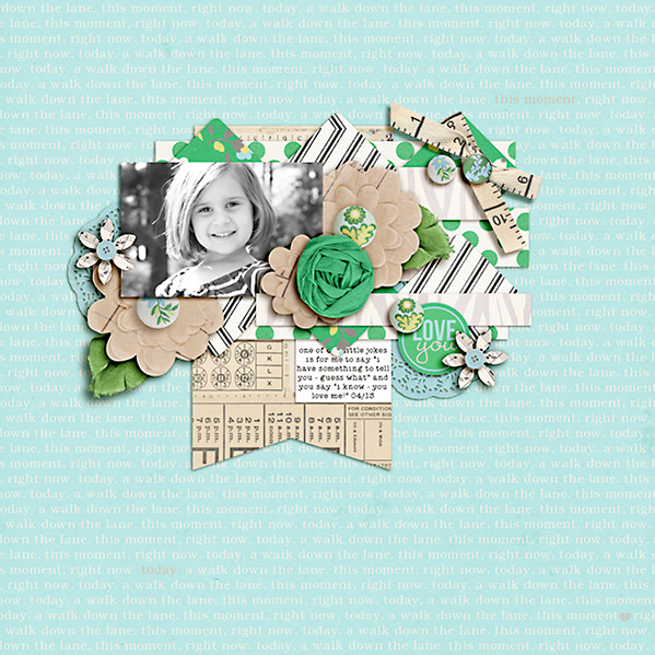 Digital Scrapbook page created by dana featuring Down the Lane by Sahlin Studio