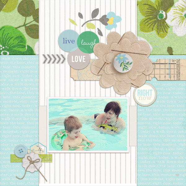 "Digital Scrapbook page created by dul featuring ""Down the Lane"" by Sahlin Studio"