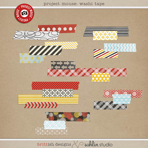 project mouse (days): washi tape by britt-ish designs and sahlin studio