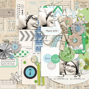 """Digital Scrapbook page created by gonewiththewind featuring """"Down the Lane"""" by Sahlin Studio"""