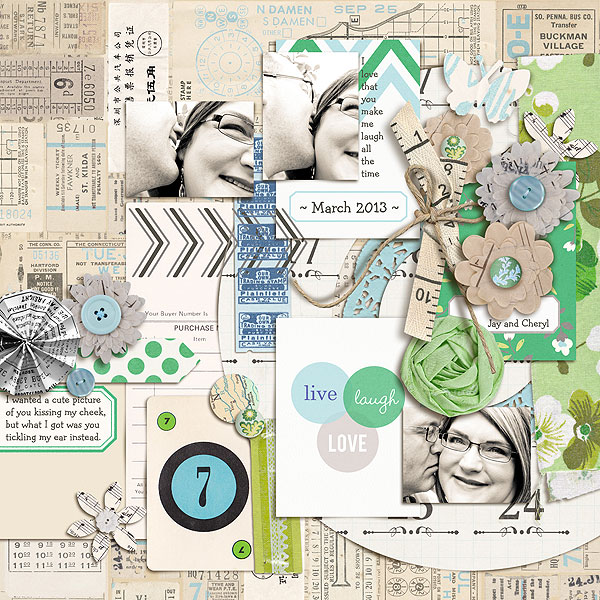 "Digital Scrapbook page created by gonewiththewind featuring ""Down the Lane"" by Sahlin Studio"