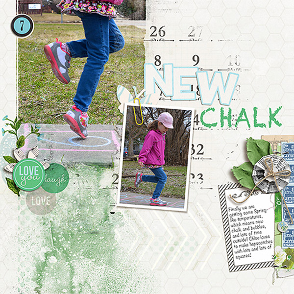 "Digital Scrapbook page created by heather prins featuring ""Down the Lane"" by Sahlin Studio"