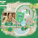 "Digital Scrapbook page created by icajovita featuring ""Down the Lane"" by Sahlin Studio"