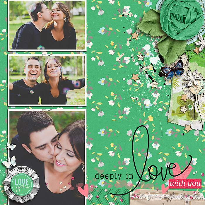 "Digital Scrapbook page created by juhh featuring ""Down the Lane"" by Sahlin Studio"