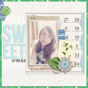 "Digital Scrapbook page created by lor featuring ""Down the Lane"" by Sahlin Studio"