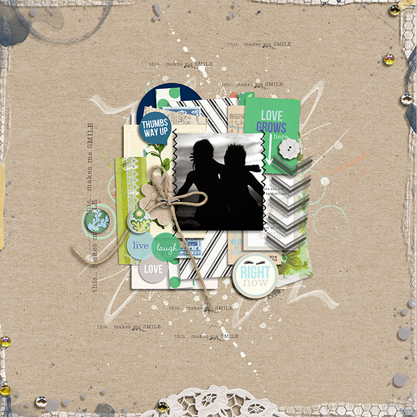 "Digital Scrapbook page created by margelz featuring ""Down the Lane"" by Sahlin Studio"