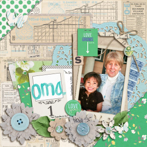 "Digital Scrapbook page created by mikinenn featuring ""Down the Lane"" by Sahlin Studio-1"