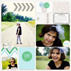 "Digital Project Life page created by misskim featuring ""Down the Lane"" by Sahlin Studio"