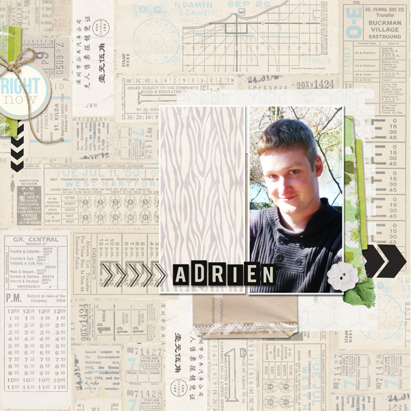 "Digital Scrapbook page created by mlleterramoka featuring ""Down the Lane"" by Sahlin Studio-2"