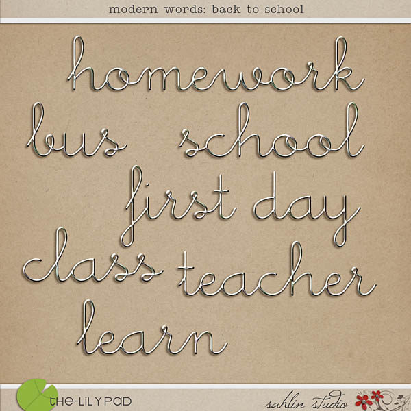 Modern Words: Back to School by Sahlin Studio