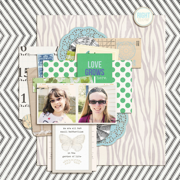 "Digital Scrapbook page created by my2monkeys featuring ""Down the Lane"" by Sahlin Studio"