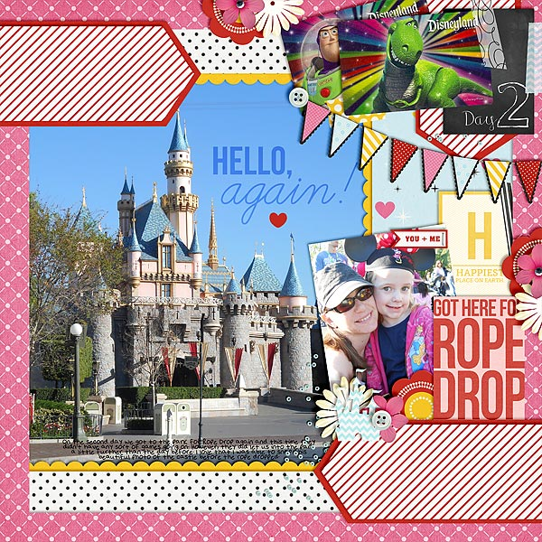 Digital Scrapbook page created by Christie featuring Project Mouse by Sahlin Studio & Britt-ish Designs