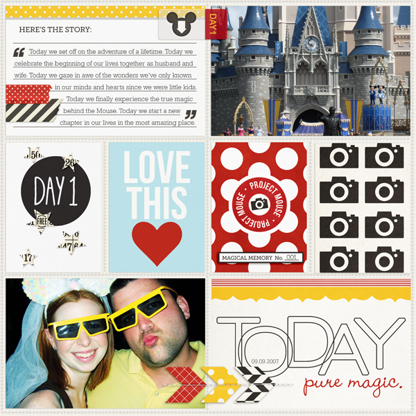 Disney Project Life page created by TeresaVictor featuring Project Mouse by Sahlin Studio & Britt-ish Designs